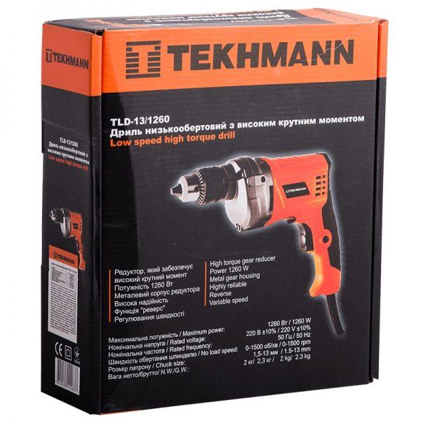 Дрель низкооборотная Tekhmann TLD-13/1260 фото1