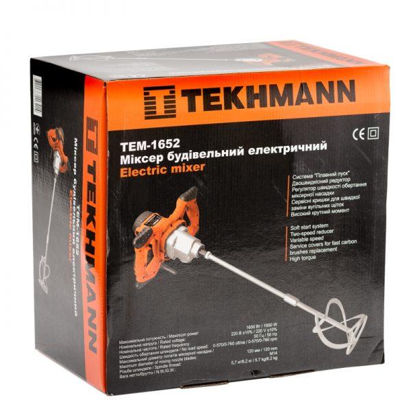Миксер строительный Tekhmann TEM-1652 фото1